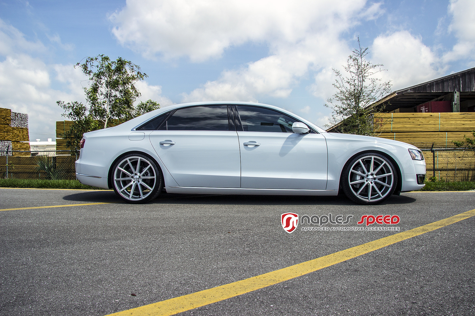 audi a8 l on 22 vossen vfs1 advanced automotive accessories. Black Bedroom Furniture Sets. Home Design Ideas