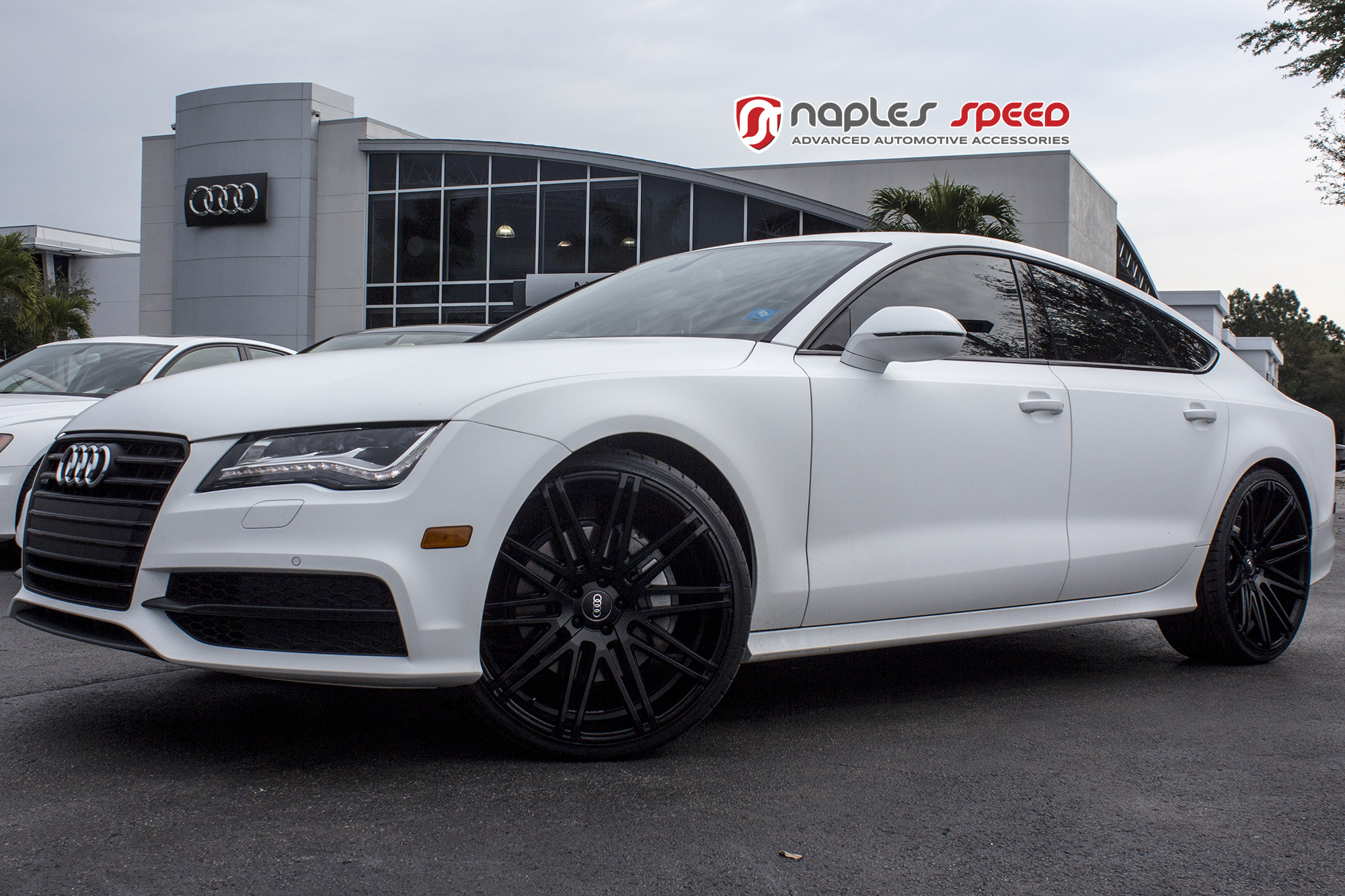 Audi Of Naples >> Wrapped Matte White Audi A7 on XO Milan Wheels – Advanced Automotive Accessories
