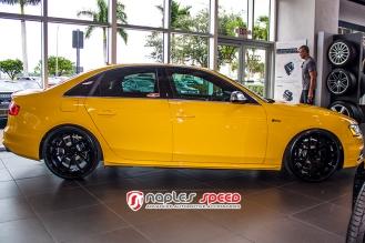 Yellow Audi S4