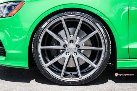 2015 Audi a3, 2015 Audi S3, exhaust, H&R, H&R Sport Springs, H&R Springs, Lowered, milltek, Milltek Exhaust, millteksport, Modified, naples, Naples FL, non-resonated, performance, resonated, sport mode, top 4, valved exhaust, Vossen, Vossen VFS1, vossen wheels, wheels