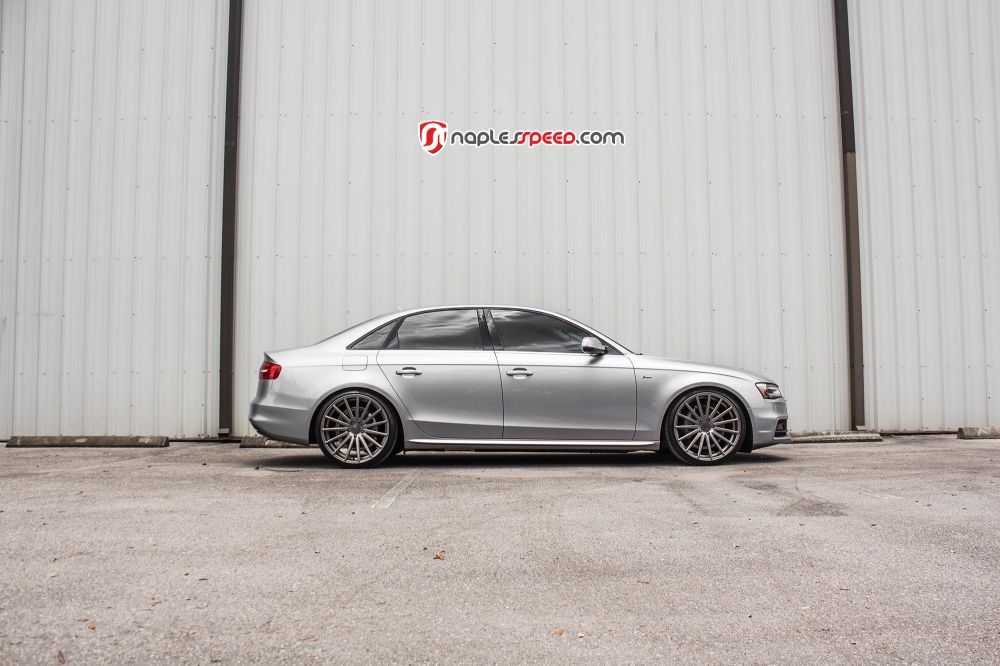 "A4 with Vossen 20"" VFS2 Wheels in Gloss Graphite"