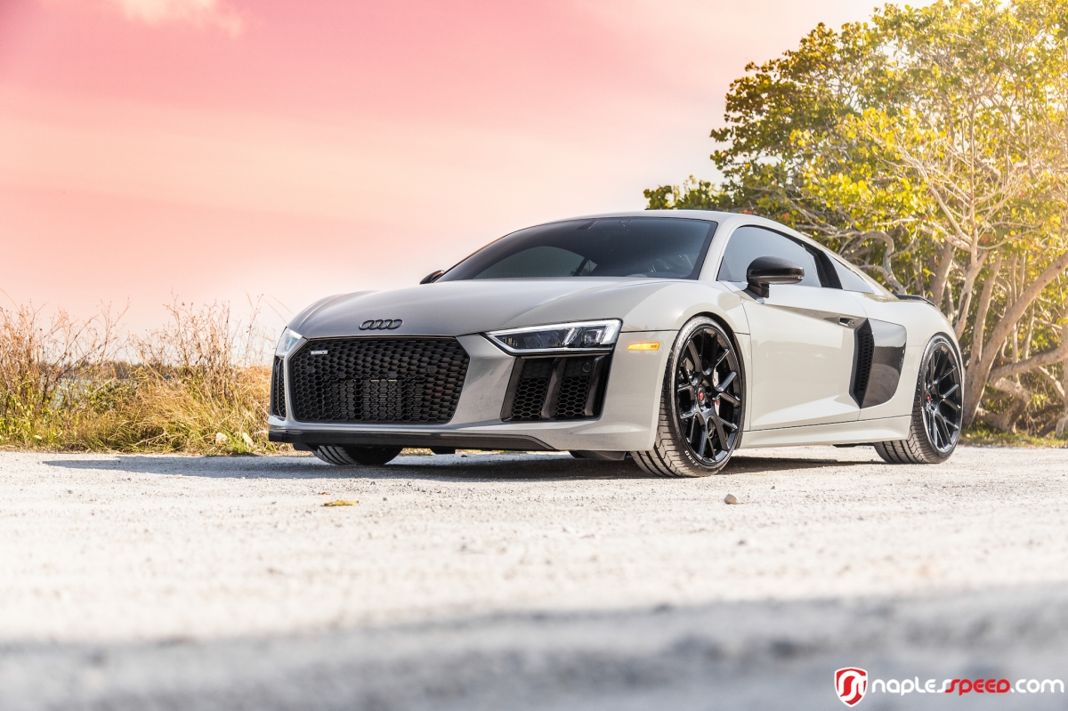 Audi Of Naples >> As Exclusive As It Gets // Nardo Gray R8 on Vossen CG-204 ...